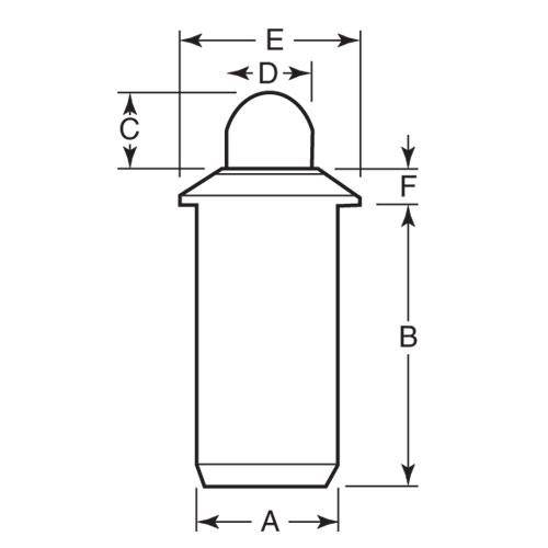 Diagram - Plungers - Spring - Push Fit - Stainless-Acetal