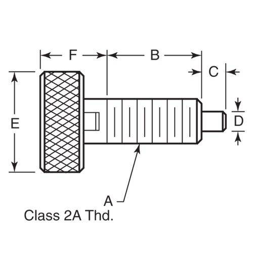 Diagram - Plungers - Spring - Knurled Handle - Locking - Stainless