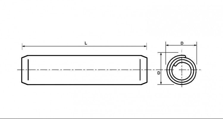 Diagram - Pins - Coiled - Plain - Standard Duty
