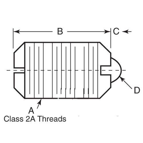 Diagram - Plungers - Spring - Threaded - Steel-Acetal