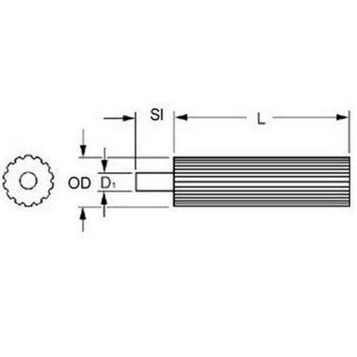 Diagram - Pulleys - Timing -  5.000mm Pitch - GT - STOCK - Carbon Steel
