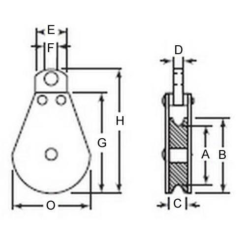 Diagram - Pulleys - Blocks - Eye - Fixed