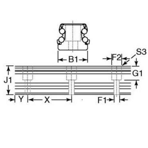 Diagram - Rail Systems - Type 2 - Linear - Precision - Rails - Chrome Coated