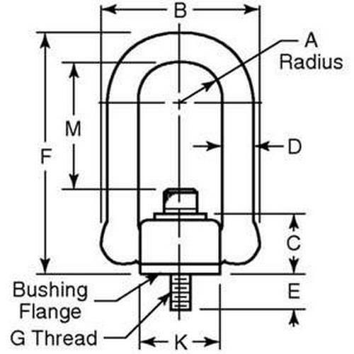Diagram - Rings - Hoist - Heavy Duty - MIL-STD1365
