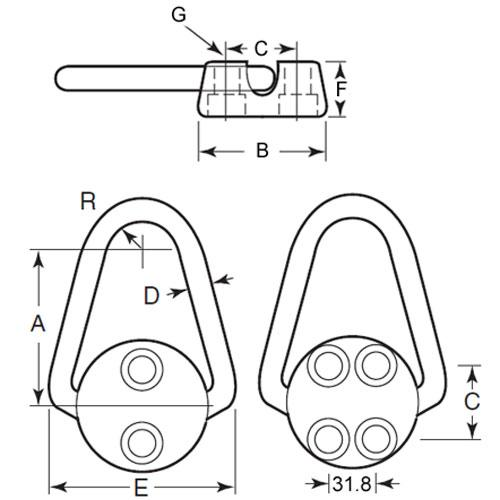 Diagram - Rings - Hoist - Stationary - Without Screws
