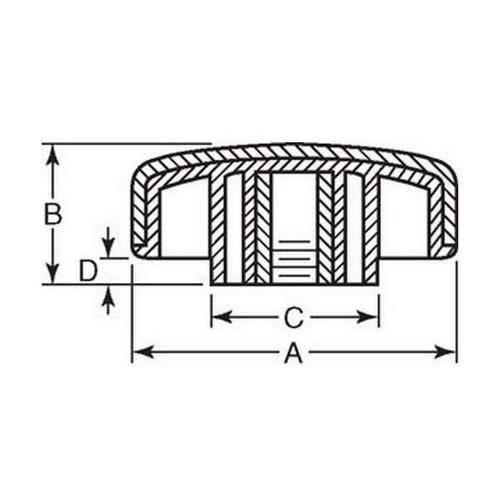 Diagram - Knobs - Four Lobe - Soft Touch - Female