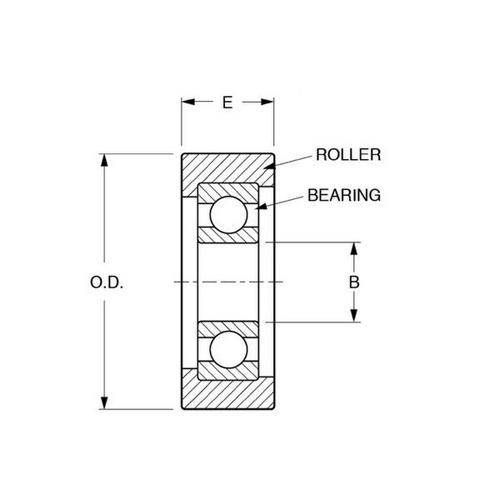 Diagram - Rollers - Bearing - Nylon Covered