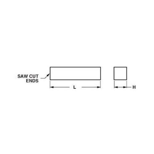 Diagram - Square Bar - Brass