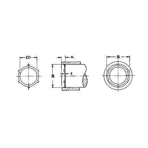 Diagram - Push In Retaining Rings - Carbon Steel