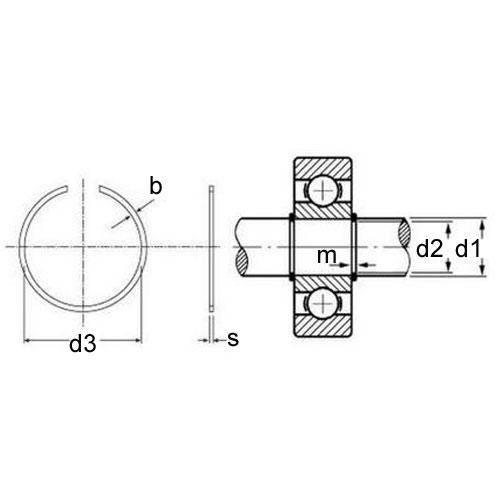 Diagram - Snap Rings - External - Basic