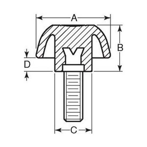 Diagram - Knobs - Three Lobe - Standard - Male