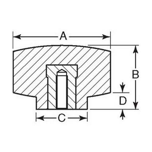 Diagram - Knobs - Four Lobe - Standard - Female