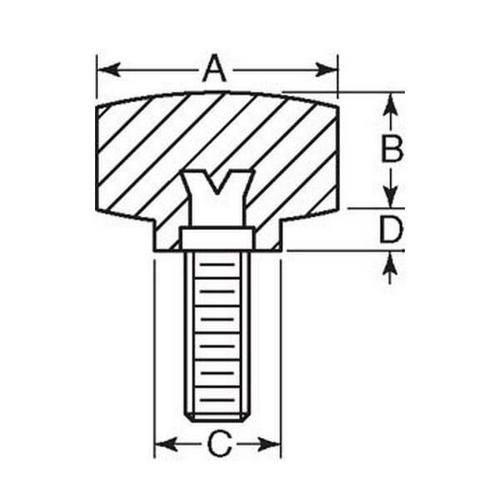 Diagram - Knobs - Four Lobe - Standard - Male