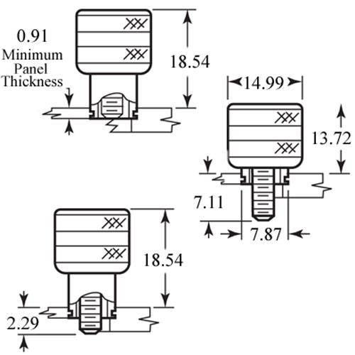 Diagram - Screws - Captive - Retractable - Steel