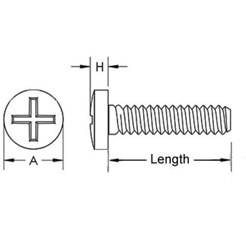 Diagram - Screws - Binder Head - Nylon - Philips