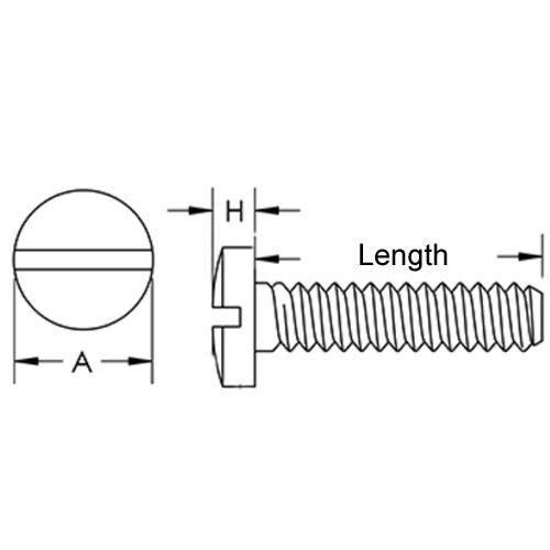 Diagram - Screws - Binder Head - Nylon - Slotted