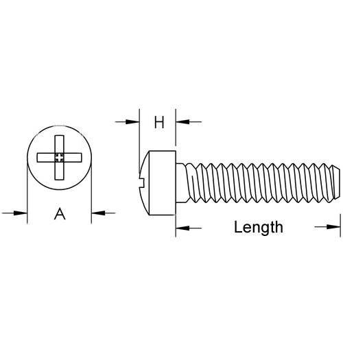 Diagram - Screws - Fillister Head - Stainless - Philips