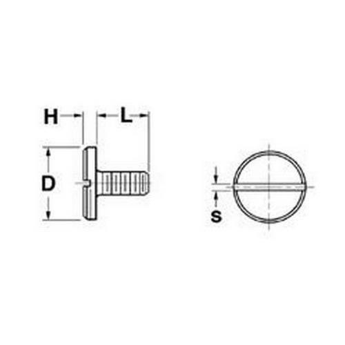 Diagram - Screws - Large Shallow Head - Steel