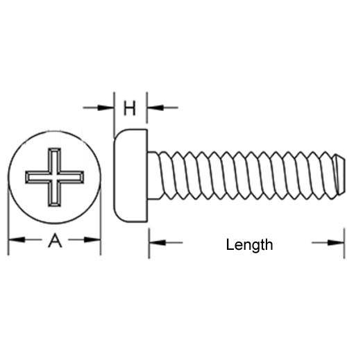 Diagram - Screws - Pan Head - Steel - Philips