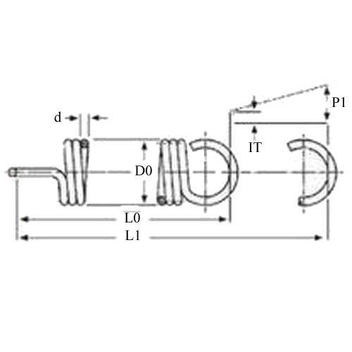 Diagram - Springs - Extension - Stainless Steel