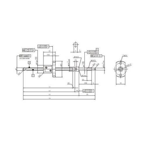 Diagram - Ballscrew - Ground - Dia 4mm - Lead 1mm