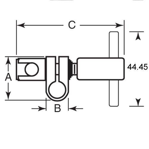 Diagram - Joints - Swivel - Tee Handle - Steel