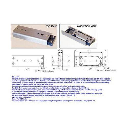 Diagram - Slides - Linear - Recirculating Ball - Standard