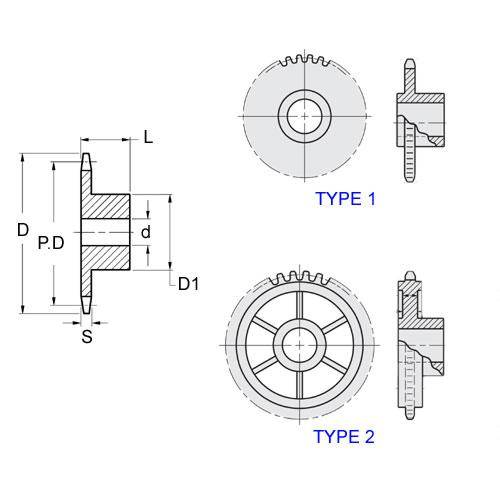 Diagram - Sprockets -  3.12 x 1.47mm - Simplex - Plastic