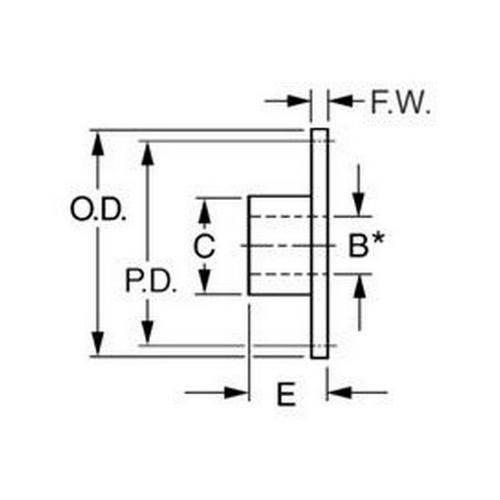 Diagram - Sprockets - Ladder Chain - 7.264mm Pitch - Size 18