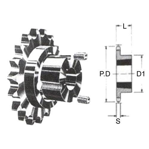 Diagram - Sprockets - 19.05 x 11.68mm - Simplex - Carbon Steel - Taperlock