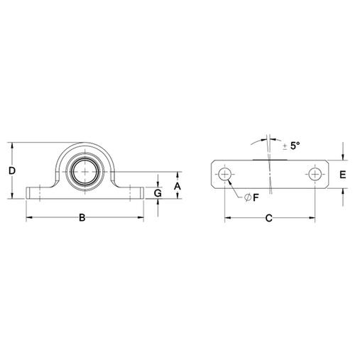 Diagram - Housings - Pillow Block - Washdown
