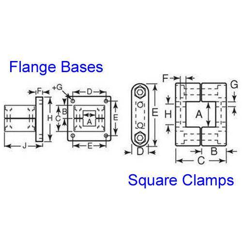 Diagram - Housings - Linear - Square - Clamps