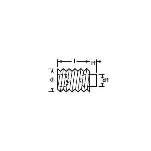 Diagram - Socket Set Screws - Acetal Tipped - Stainless Steel