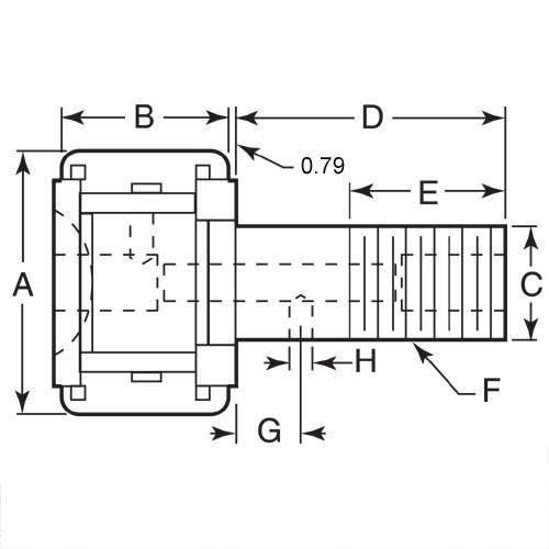 Diagram - Cam Followers - Needle Roller Type - Standard