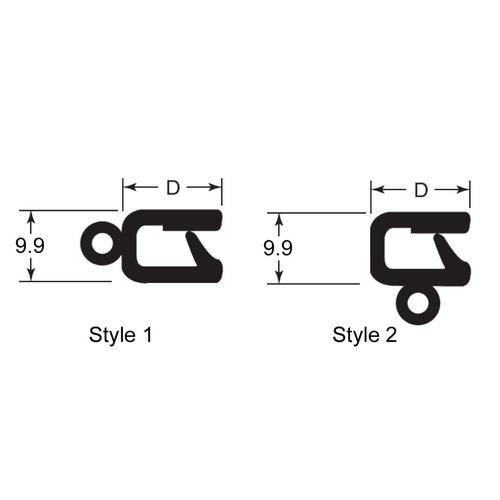 Diagram - Seals - Trim - Push On - Vinyl and Rubber