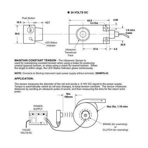 Diagram - Sensor - Ultrasonic - For Brakes