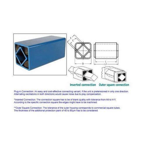 Diagram - Suspension Units - Rubber - Square - Insert Type