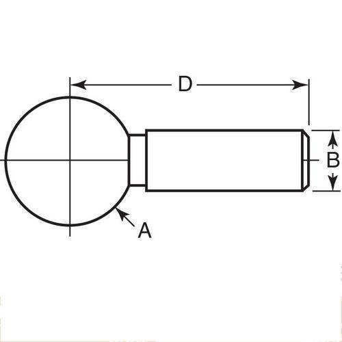 Diagram - Balls - Tooling - One Piece - Standard - Stainless Steel - Slip Fit