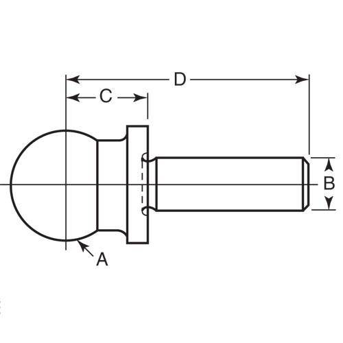 Diagram - Balls - Tooling - One Piece - Shoulder - Steel - Press Fit