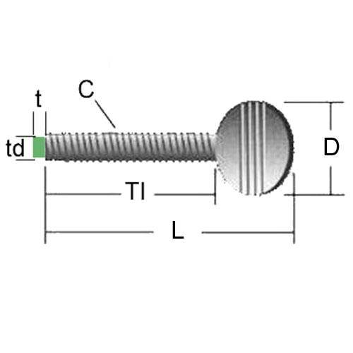 Diagram - Screws - Thumb - Nylon Tip
