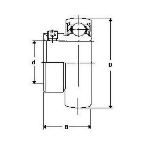 Diagram - Bearings - For Pressed Metal Housings