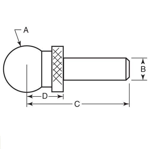 Diagram - Balls - Tooling - Two Piece - Shoulder - Steel - Press Fit
