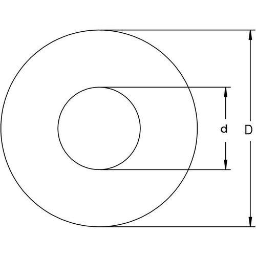 Diagram - Washers - Flat - Carbon Spring Steel - Precision Shim