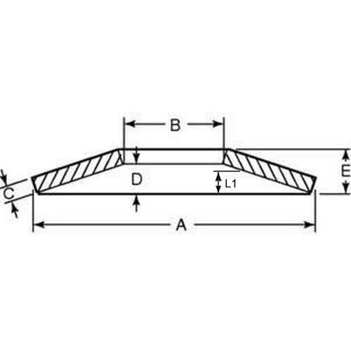 Diagram - Washers - Disc Spring - Ball Bearing Type