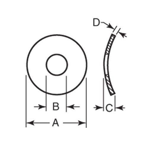 Diagram - Washers - Spring - Curved - Carbon Steel