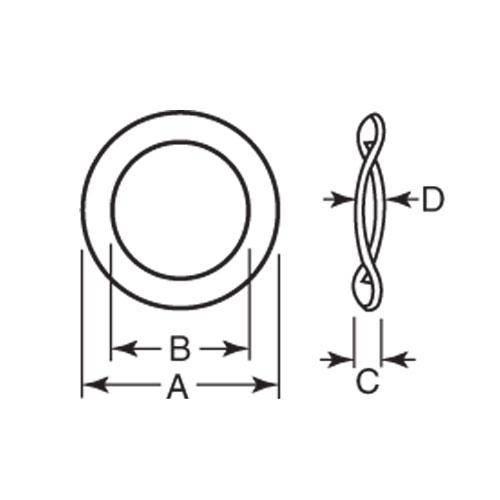 Diagram - Washers - Heavy Duty - Machined - Steel