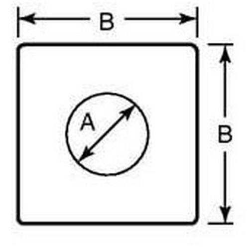 Diagram - Washers - Square - Heavy Duty - Steel