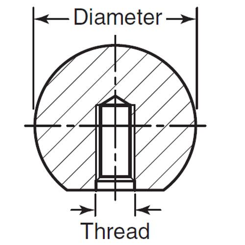 Diagram - Knobs - Ball - Threaded - Stainless Steel