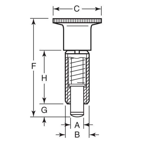 Diagram - Plungers - Indexing - Non Locking - Steel