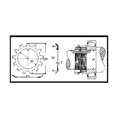 Diagram - Washers - Lock - Tabbed - Heavy Duty